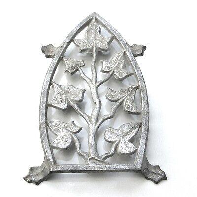 Vintage French Cast AluminumTrivet for Iron, Ivy Design