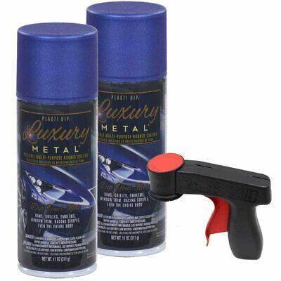 Plasti Dip Luxury Metal Spray 2 11oz Cans W Cangun Ultrasonic Blue Metallic