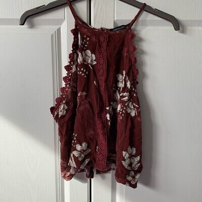 Kendall And Kylie Collection Red Top Size L But Would Fit Size S