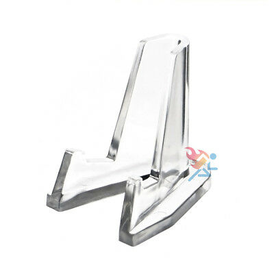 Small Display Stand Clear Acrylic Easel Holder for Pocket Wa