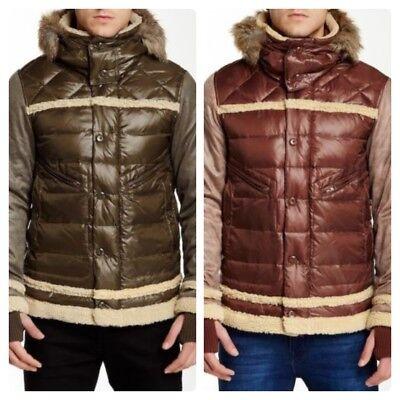Men`s JET LAG Parka Coat with Fur Trim Hood Winter Down Jacket
