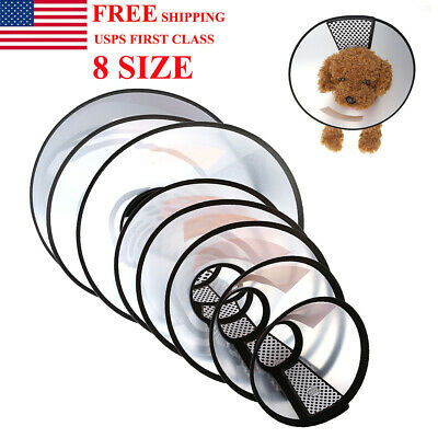 US Pet Dog Cat Protection Cover Cone Neck Collar Anti-Bite Recovery Protective Cat Cone Collar