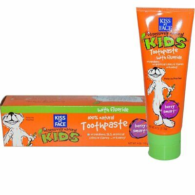 KISS MY FACE - Kids Berry Smart with Fluoride Toothpaste - (113g) EXP 01/2020