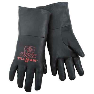 Tillman 44 Onyx 100 Top Grain Black Kidskin Tig Welding Gloves Medium