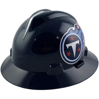 MSA V-Gard FULL BRIM TENNESSEE TITANS NFL Hard Hat Type 3 RATCHET Susp