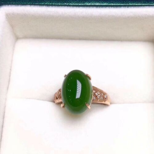 Super Beautiful Pure  Natural Hetian Jade  Ring  925 Sterling Silver