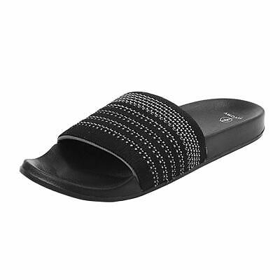 FITORY Slides for Mens, Lightweight Sandals with Arch Support Comfort Beach Slip