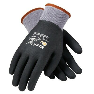Maxiflex 34-876 Mens Knit Nylonlycra Glove Nitrile Coated Microfoam Size Sm-xxl