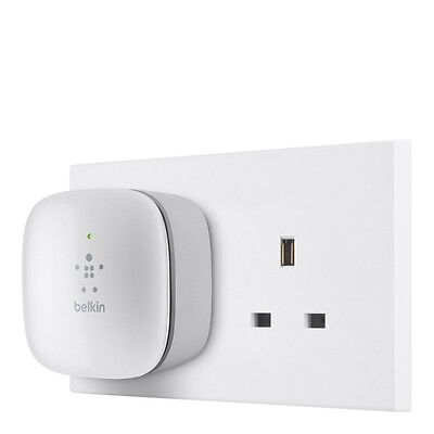 Belkin N300 Universal Wi Fi Range Extender Wireless Signal Booster Easy Setup UK