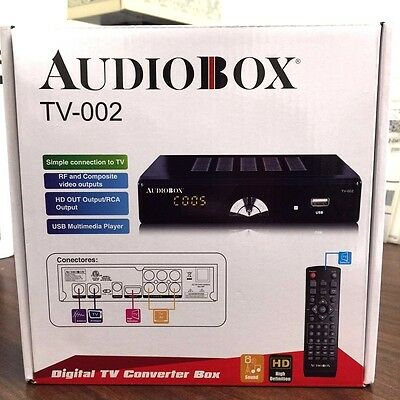 BRAND NEW AudioBox TV-002 Digital TV Converter Box HD