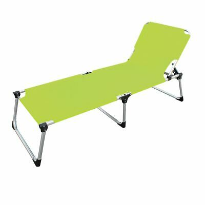 Aluminium Sun Lounger Extra High Extra Long in Yellow Green