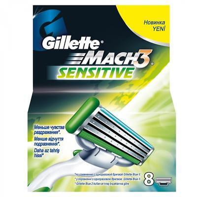 8 Stück Gillette Mach 3 Sensitive Rasierklingen Mach3 Klingen Neu OVP  Gillette Rasierklingen Mach