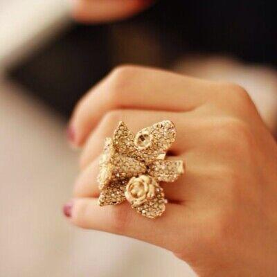 VERSACE x H&M Gold Flower Ring Size M *BNWB* RRP £20