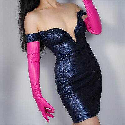 LONG GLOVES Faux Leather PU 24