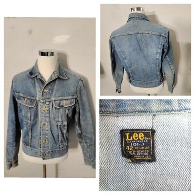 Lee Jean Jacket 101-J Mens 42 Stanforized Broken in Jacket inv#s8311, used for sale  Shipping to India