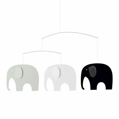 Flensted Elephant Party Modern Hanging Baby Mobile, Black/White Nursery - Elephant Party Mobile