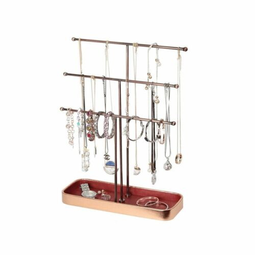 Jewelry Stand Metal 3 Tier Necklace Holder and Jewelry Organizer Stand
