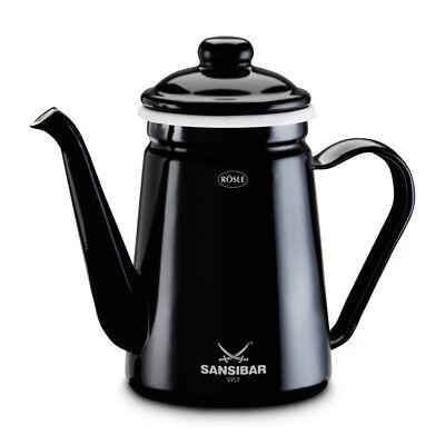 Grillgeschirr Rösle Barbecue-Kanne Sansibar 1,1l emailliert Teekanne Kaffeekanne