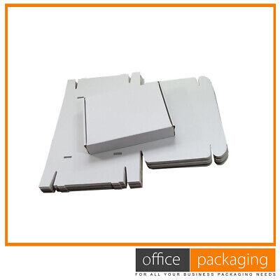 White Die Cut Folding Lid Postal Cardboard PIP Parcel Boxes 5.5