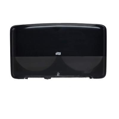 Tork Elevation Black Jumbo Roll Mini Twin Bath Tissue Dispenser 55 55 28 A