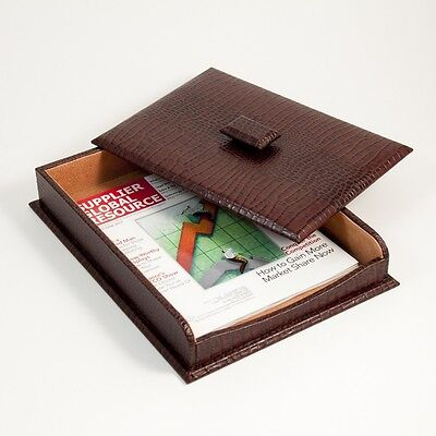Letter Tray w/Cover, Brown
