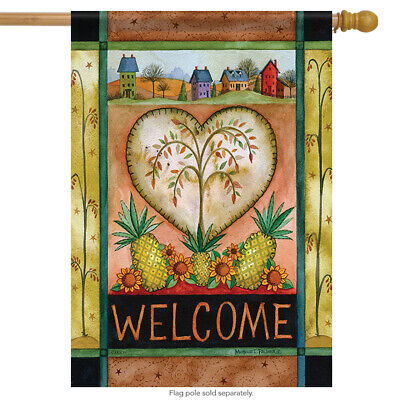 Country Pineapple Welcome House Flag Primitive Decorative Banner 28