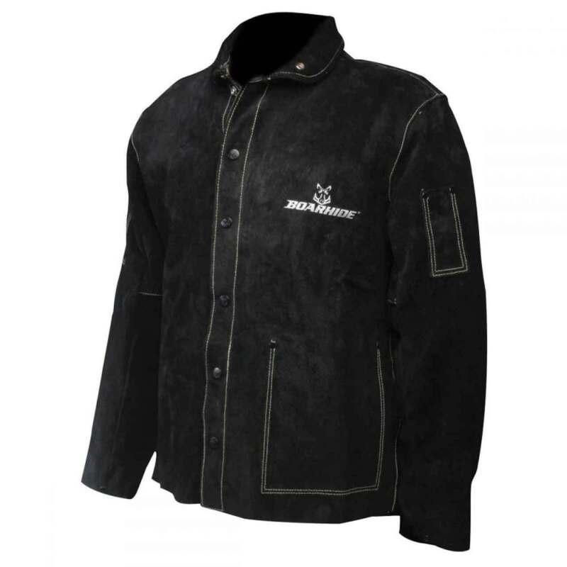 """Caiman 3029 30"""" Black Boarhide Pigskin Jacket, Large"""