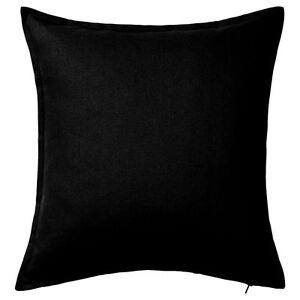 Plain Dyed Cushion Cover 100% Percale Cotton Pillow Case Home Sofa Decor