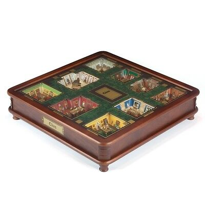 Clue Luxury Edition Wood Wooden Collector's Board Game New Premium Collectible