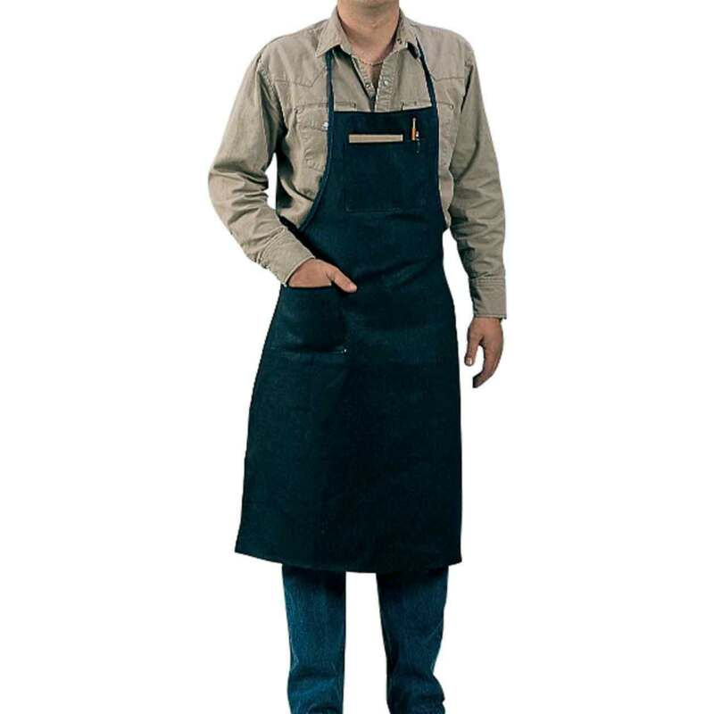 "Tillman 6236BD 27""X38"" 9 oz. Blue Cotton Bib/Shop Apron"