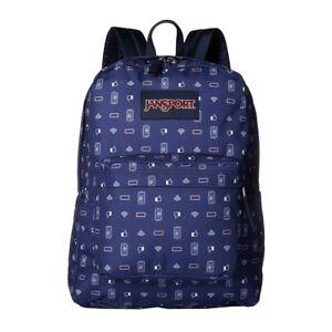 10c7d10a2b0 JanSport Superbreak School Backpack Digital Destruction Navy ...