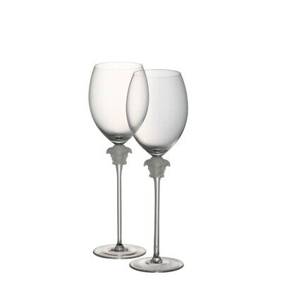Genuine Versace Medusa Wine Glasses Pair Rosenthal RRP $575 NEW NEVER USED