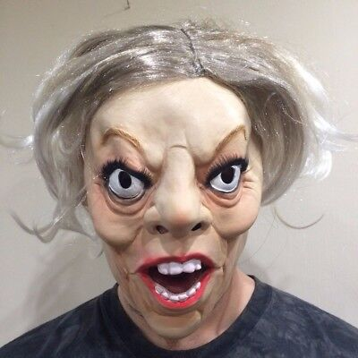 Theresa May Mask Latex Halloween Fancy Dress Costume Female Character Deluxe - Female Horror Characters