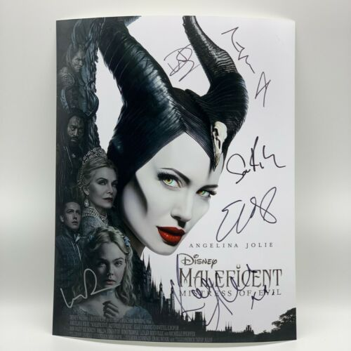 Maleficent Mistress of Evil Cast SIGNED 11x14 Photo ANGELINA JOLIE OnlineCOA