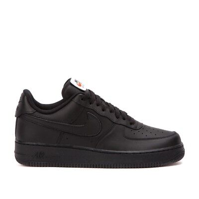 Nike Air Force 1 Low 07 QS SZ 9 Black Velcro Removable Swoosh Pack AS AH8462 b9729651b