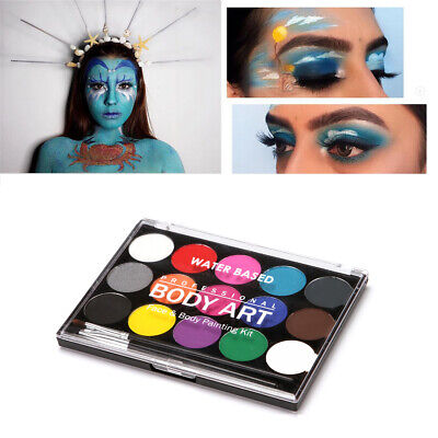 Halloween Make Up (Fantasy Soluble Oil Colors Face Body Skin Paint Pigment Theater Halloween)