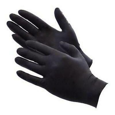 Professional Series Black Nitrile Gloves Latex Free 100 Count Box Medium