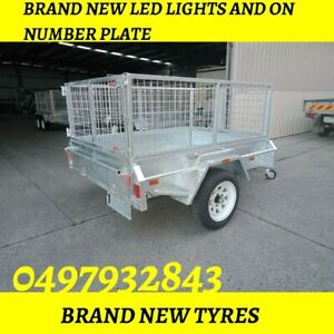 7×5 Single axle trailers with best price