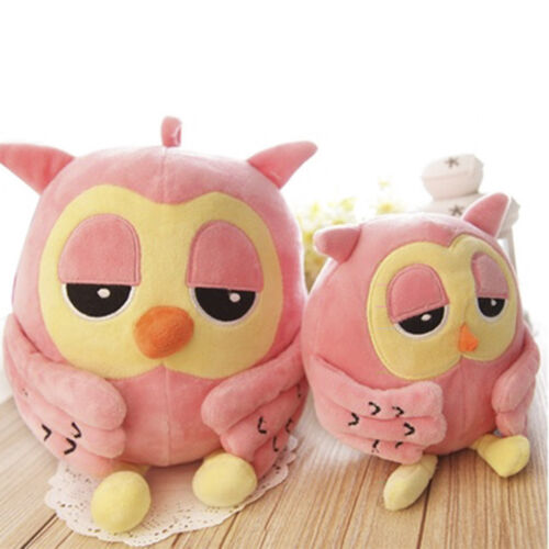 Soft Stuffed Cuddly Owl Plush Animal Pack Toy Fashion Pink D