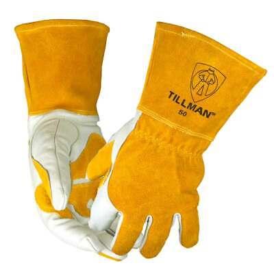 Tillman 50 Top Grain Split Cowhide Fleece Lined Mig Welding Gloves Small