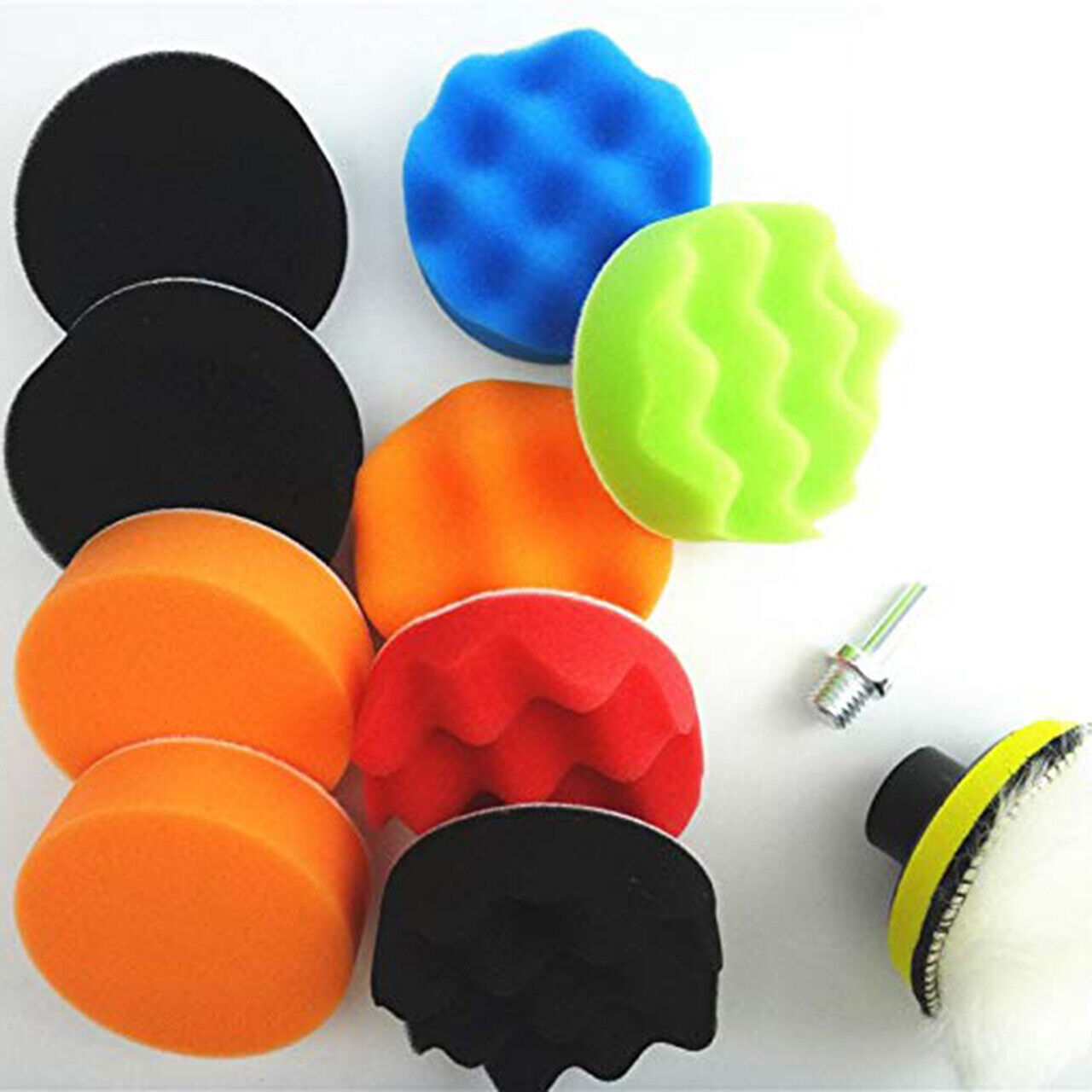 4Pcs/Set 3/4/5/6/7inch Car Auto Polishing Sponge Foam Pads Buffing Wax Polisher Mitts, Bonnets & Buffing Pads