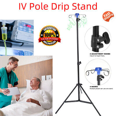 Portable Iv Pole Drip Bag Stand Intravenous Foldable Pole Stand For Clinic Home