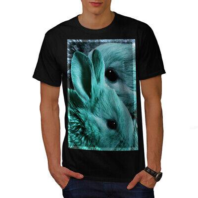 Wellcoda Cute Animal Bunny Face Mens T-shirt, Rabbit - Bunny Face Design