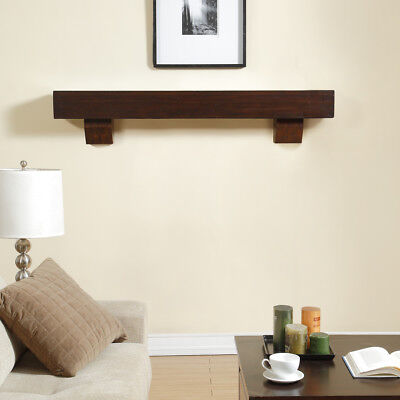 Duluth Forge 60-Inch Fireplace Shelf Mantel With Corbels - Chocolate (Fireplace Mantel Shelf)