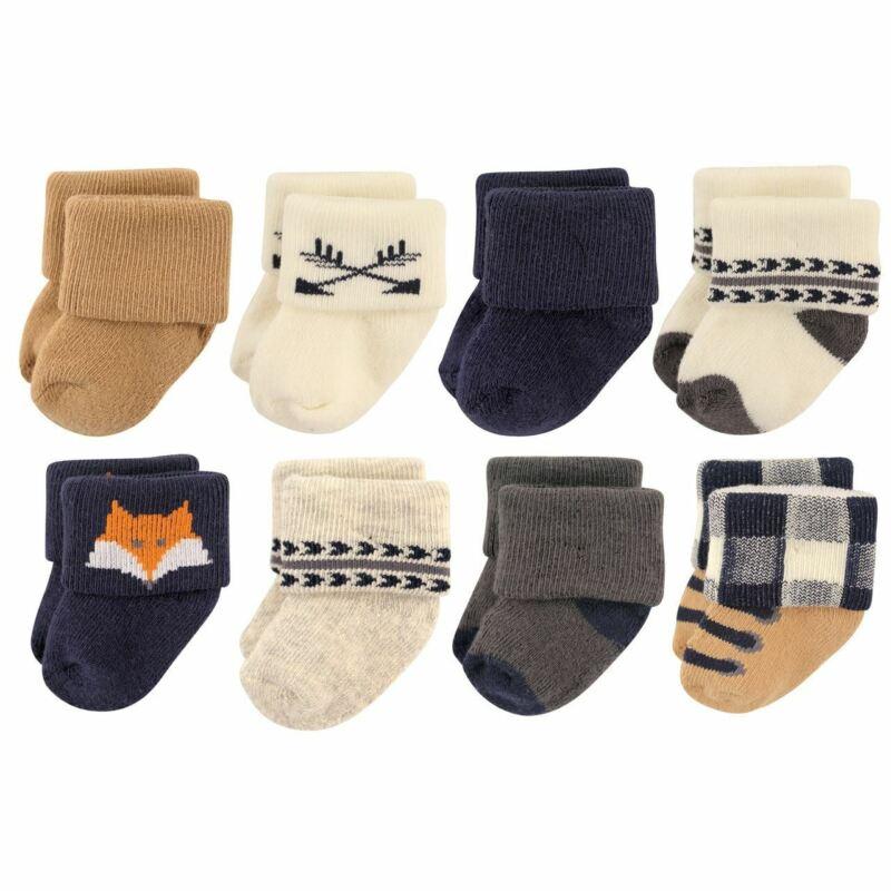 Hudson Baby Boy Socks, 8-Pack, Woodland Creatures
