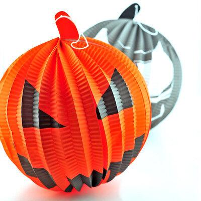 1 X 3D Colgar Papel Decoración para Fiesta de Halloween Calabaza Diseño Al Azar