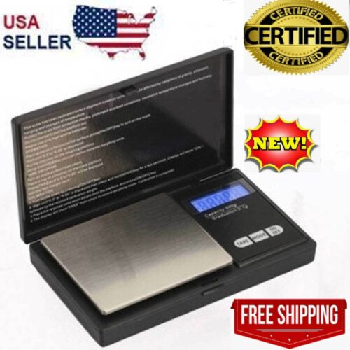 Digital Scale 1000g x 0.1g Jewelry Pocket Gram Gold Silver Coin Precise 1000 g