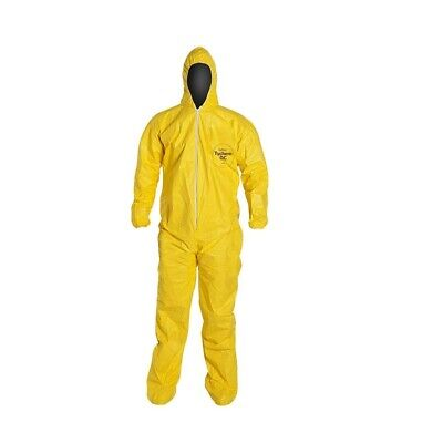 Dupont Tychem Qc127b Hoodelastic Wrist And Ankle Coverall 12pack