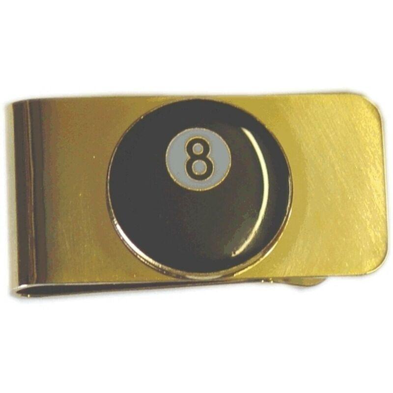 8-Ball Brass Money Clip Pool Billiards 8 Ball