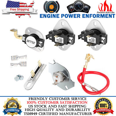 3977767 3392519 3387134 3977393 DRYER THERMOSTAT FUSE KIT FOR WHIRLPOOL KENMORE